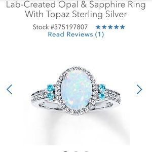 Kay Jewlers- Opal and sapphire ring